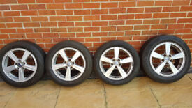 Alloy wheels and tyres set of 4