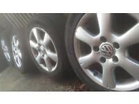 VW Alloy Wheels, 15 inch with tyres