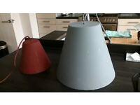 2 x sinka pendant lights large and small sebastian wrong for hay