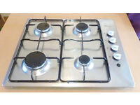 Baumatic Stainless Steel Gas Hob with flexible Gas Hose Great condition