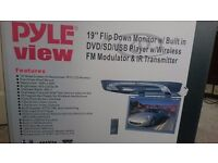 Pyle view Flip Down Monitor