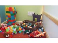 £28 - Fantastic toy bundle - BIG & SMALL Building Blocks , minions, spiderman and more.