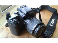 Camera. Canon EOS Elan 7E 35mm SLR film camera.