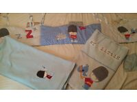 Mothercare My Little Soldier Cot bumper & bedding