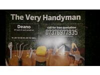 The very handy man all types of work undertaken free quotes