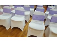 White lycra chair covers for sale