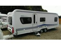 2010 hobby 650 prestige fixed bed twin axle with motor mover v g c