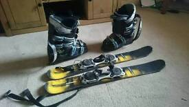 Ski boots and blades