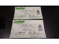 THE VAMPS CONCERT TICKETS VIP STANDING SHEFFIELD ARENA