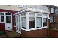 Conservatory 3m x 3.7m White uPVC incl. Blinds Ceiling fan