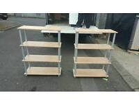 2 of bookcases in beech wood £55 for the set