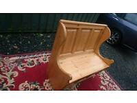 Solid pine monks bench /storage seat