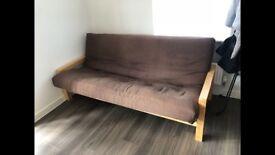 Sofa bed (brown)