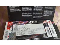 2 club A grandstand tickets for fomula 1 silverstone next weekend