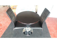 ATHENA HIGH GLOSS DINING SET, TABLE AND 2 CHAIRS