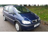 VAUXHALL ZAFIRA 1.8 LIFE,1 OWNER,SERVICE HISORY,MET.BLUE,EXC.CAR,7 SEATER,HPI CLEAR