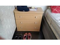 Beech chest of drawers