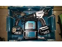 Makita 18V impact and combi drill with two 3.0Ah batteries