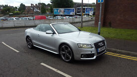 2009 AUDI A5 TFSI S LINE CONVERTIBLE ONLY 27K MILEAGE FULL MAIN DEALER SERVICE HISTORY 2 FORMER