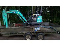 MINI DIGGER & BREAKER FOR GROUND WORK HIRE