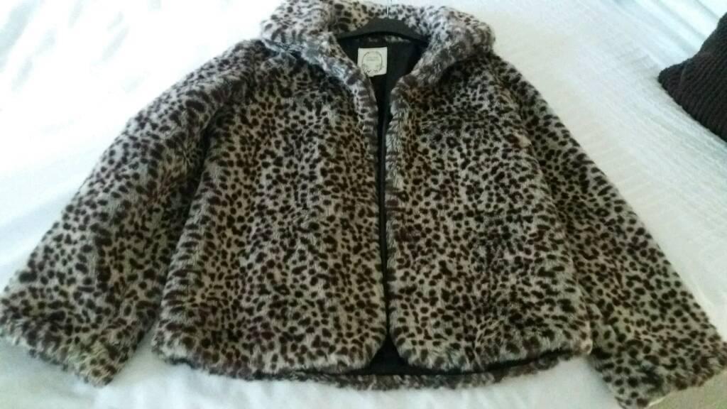 Girls fake fur jacket from Next