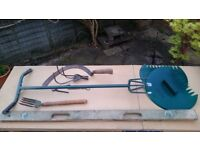 A collection of gardening tools
