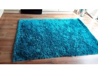 Fab rug turquoise 1.8 x 1.5 mtrs approx