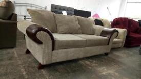 REDUCED! 3 seater jumbo cord sofa