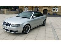 ********AUDI A4 2.4 CONVERTIBLE TAXED & MOTD £ 1395 ovno p / x welcome £1395 ovno......