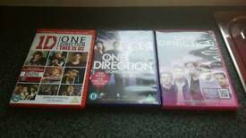 Set of 3 one direction dvds