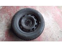 Continental Wintercontact TS 850 195 55 R15 85H winter tyres and steel wheels x4