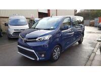 All new 2018 Toyota Proace by Wellhouse Marina blue 180bhp Auto