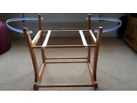 Beautiful Mothercare Crib Rocker - Antique Pine - Perfect condition