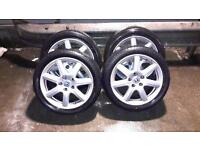 Honda civic 17 inch sports alloy wheels with tyres