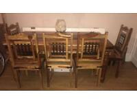 Solid wood (sheesham / jali) dining table