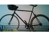 Adult mans medium sized fixed gear bike good condition+ brand new specialized helmet
