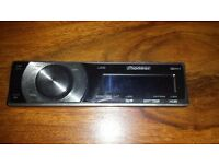 front of car cd player