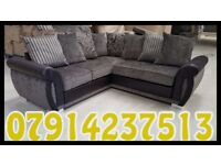 THIS WEEK SPECIAL OFFER SOFA BRAND NEW BLACK & GREY OR BROWN & BEIGE HELIX SOFA SET 5773