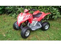 Great Red Child's Electric Quad Bike, Excellent Condition, Hardly Used, Manual Included
