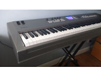 Yamaha MM8 88 Keys Synthesizer with Graded Hammer Action Keys + Stand + Sustain Pedal