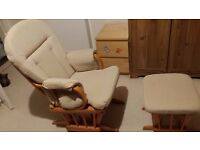 Dutailier Nursing Chair & Footstool - Excellent Condition