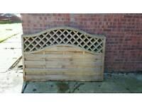 6 x 4 lattice style fence panels