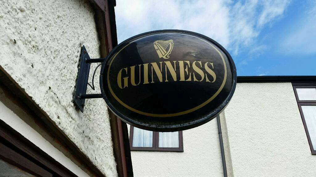 Large Wall Mounted Light Up Guinness Pub Sign In Ipswich