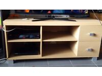 Wooden TV storage TV unit TV bench with drawers and shelves
