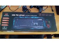 Kane Pro Edition gaming mouse/keyboard and mouse mat