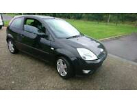 FORD FIESTA 1.2 BLACK LEATHER INTERIOR NICE ALLOYS WITH NEW TYRES SPARES OR REPAIR NO MOT