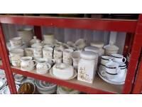 Harvest tableware cups saucers jars