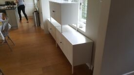3 ikea ps white cabinets