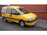 PEUGEOT E7 EXPERT TAXI DERBY YELLOW 8 VALVE ENGINE HDI MOT 03/17 WHEELCHAIR ACCESSIBLE NOT LTI TX1