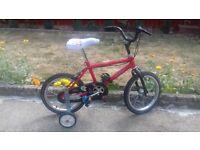 KIDS BOYS CHILDREN RED 16 INCH WHEEL AGE 3-7 BIKE BICYCLE